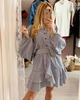 φόρεμα ριγέ, μπλουζοφόρεμα