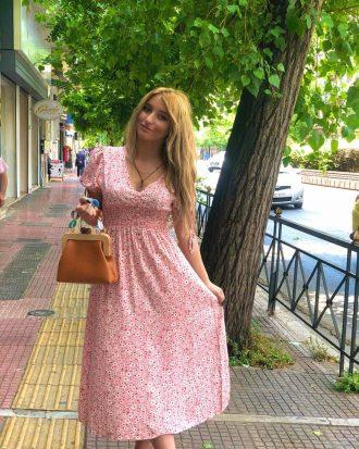 φορεμα-λουλουδια-ροζ